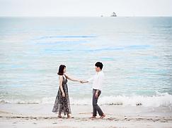 허니문 스냅 사진 (해변 촬영)